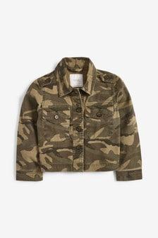 Укороченная куртка в стиле милитари (3-16 лет)