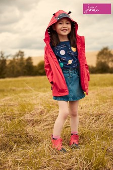 Joules Red Riverside Novelty Raincoat