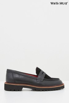 White Stuff Black Alpine Loafers