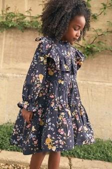 Платье ярусного кроя платье с оборками (3-16 лет)