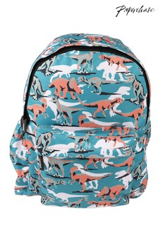 Paperchase Green Dinosaur Backpack