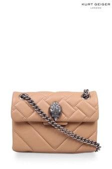 Kurt Geiger London Camel Leather Mini Kensington X Bag