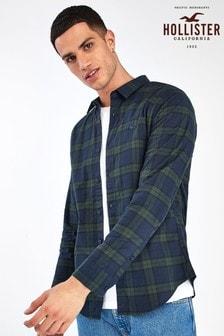 Зеленая оксфордская рубашка Hollister
