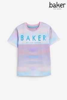 تي شيرت صباغة بالربط للجنسين منBaker by Ted Baker