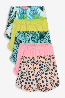 Set de 5 perechi de pantaloni scurți cu imprimeu tropical (3 luni - 7 ani)