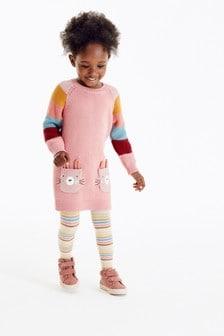 Платье-джемпер и колготки (3 мес.-7 лет)