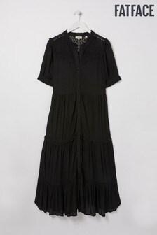 FatFace Black Ella Midi Dress