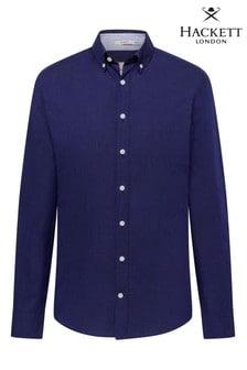 Hackett - Hkt - Camicia Oxford blu con vestibilità super attillata