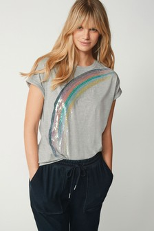 Sequin Rainbow T-Shirt