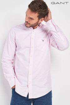 Gant素色牛津襯衫