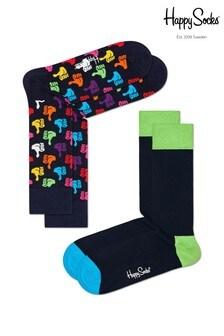 Lot de deux paires de chaussettes Happy Socksbleu marine/multicolore