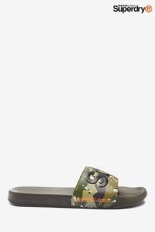 Superdry Slider mit Camouflage-Muster
