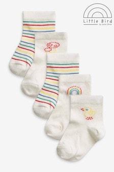 Little Bird Unisex Rainbow Socks 5 Pack