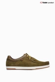 Base London® Khaki Dougie Suede Lace-Up Wallabee Shoes