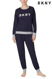 DKNY Signature Top And Joggers Pyjama Set