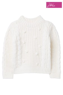 Joules Pomwell Strickpullover, Creme