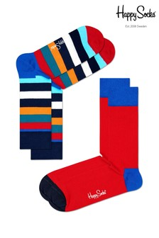 Happy Socks Navy/Red Socks Two Pack