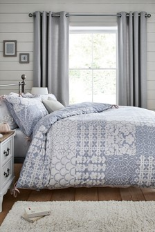 Skandi Patchwork Duvet Cover And Pillowcase Set