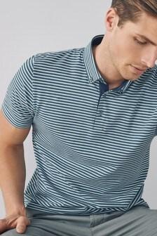Рубашка поло в тонкую полоску