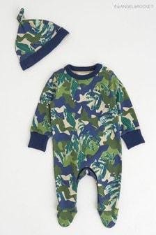 ثوب من قطعة واحدة أخضر مموه مع قبعة منAngel & Rocket