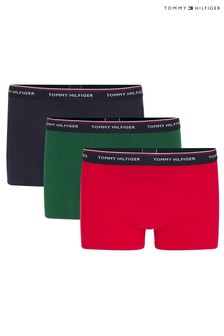 Set premium trei perechi de boxeri esențiali Tommy Hilfiger albastru