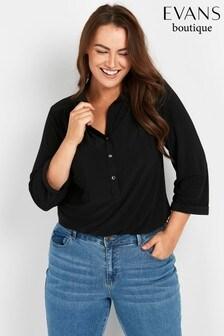 חולצהמג'רזישחורה שלEvans למידות גדולות