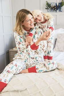 Matching Mother & Me Womens Christmas Scene Pyjamas