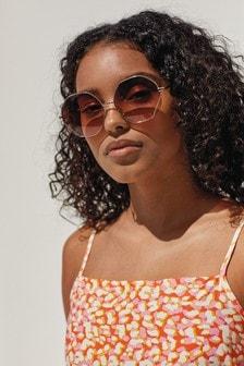 نظارة شمس تفاصيل إطار معدني