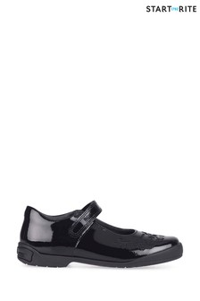 Start-Rite Black Hopscotch Shoes