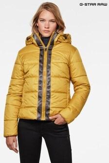 Žlutá prošívaná bunda G-StarMeefic s kapucí