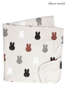 Tobias & The Bear Natural Miffy & Friends Baby Blanket
