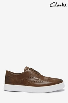 Jasnobrązowe buty Clarks British Lea Hero Limit
