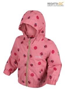 Regatta Pink Little Adventurers Waterproof Akiva Jacket