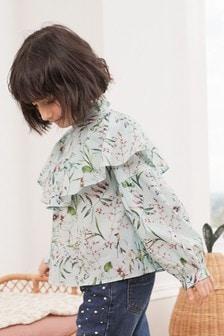 Блузка из органического хлопка с оборками (3-16 лет)