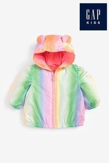 Gap Rainbow Ombre Windbreaker Jacket