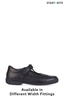 Start-Rite Black Leather Leapfrog Shoes