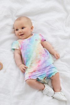 Tie Dye T-Shirt And Shorts Co-ord Set (0mths-2yrs)