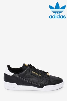 adidas Originals Black/Gold Continental 80 Trainers
