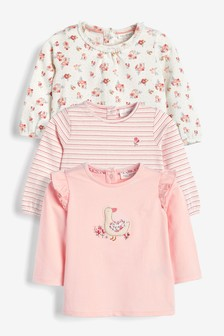 3 Pack Duck And Floral T-Shirts (0mths-3yrs)