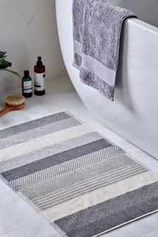 שטיחון אמבטיה מכותנה מצרית במרקם מגבת