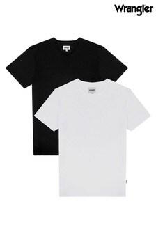 Wrangler Black & White 2 Pack T-Shirt