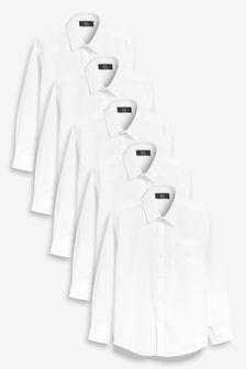5 Pack Long Sleeve Shirts (3-16yrs)