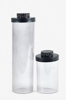 Harper Gem Storage Jar Glass Kitchen Jar