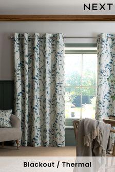 Isla Floral Print Eyelet Curtains (407538) | $65 - $151