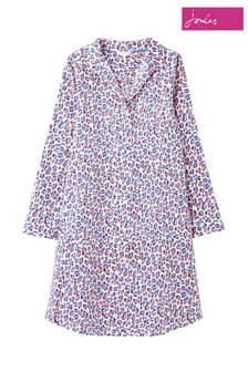 Joules Purple Verity Woven Nightshirt