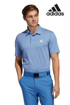 adidas Golf Utlimate Heather ストライプ ポロシャツ