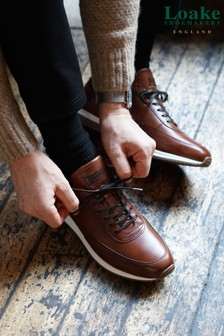 Loake Tan Leather Bannister Runner Trainers