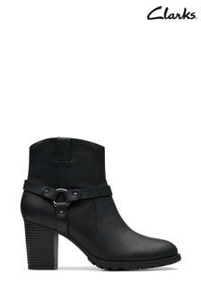 Czarne buty w rockowym stylu Clarks Verona