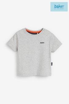 חולצתטי שלBaker byTed Baker לתינוקותבניםעם הדפסגאומטריבצבעאפור
