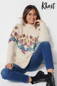 Khost Sequin Fairisle Jumper